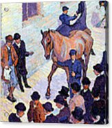 A Sale At Tattersalls, 1911 Acrylic Print by Robert Polhill Bevan