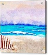 A Sand Filled Beach Acrylic Print