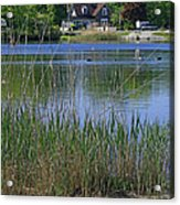 A Scenic View Of Round Pond  At The United States Military Academy Acrylic Print