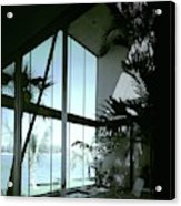 A Screened Patio Acrylic Print