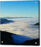A Sea Of Fog  Acrylic Print