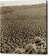 A Sea Of Helmets World War One 1918 Acrylic Print