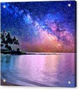 A Sea Of Stars At Poipu Acrylic Print