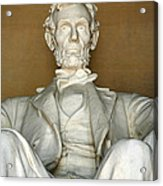 A Seated Abe Lincoln Acrylic Print