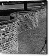 A Serpentine Brick Wall Acrylic Print