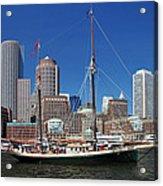 A Ship In Boston Harbor Acrylic Print