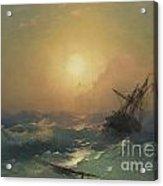 A Ship In Distress Acrylic Print
