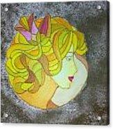 A Shy Lady Acrylic Print