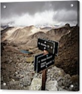 A Signed Trail Junction On The Way Acrylic Print