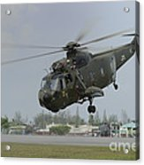 A Sikorsky S-61a4 Helicopter Acrylic Print