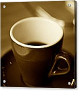 A Simple Cup In Sepia Acrylic Print