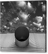 A Single Window Bw North Shore Yacht Club Salton Sea Acrylic Print