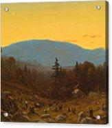 A Sketch Of Hunter Mountain. Catskills. Twilight On Hunter Mountain Acrylic Print