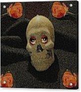 A Skull In The Dark Pop Art Acrylic Print