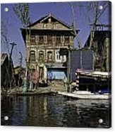 A Slightly More Run Down Section Of The Dal Lake Acrylic Print