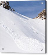 A Small Slab Avalanche With Two Guides Acrylic Print