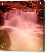 A Small Waterfall Along The Old North Cascade Highway  Acrylic Print