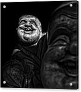 A Smile On The Shoulder - Bw Acrylic Print