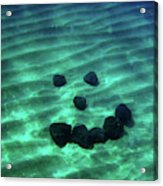 A Smiley Face Formed By Large Boulders Acrylic Print