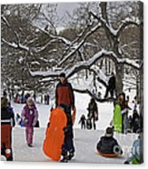 A Snow Day In The Park Acrylic Print