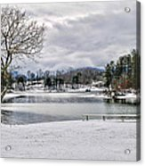 A Snowy Day On Lake Chatuge Acrylic Print