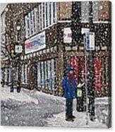 A Snowy Day On Wellington Acrylic Print