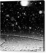 A Snowy Night Acrylic Print by Hannah Miller