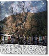 A Snowy Night Acrylic Print