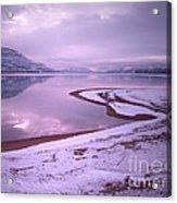 A Snowy Shore Acrylic Print