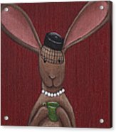 A Sophisticated Bunny Acrylic Print