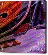 A Southern Combination Digital Banjo And Guitar Art By Steven Langston Acrylic Print by Steven Lebron Langston