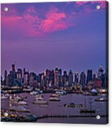 A Spectacular New York City Evening Acrylic Print by Susan Candelario