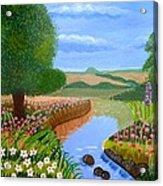 A Spring Stream Acrylic Print