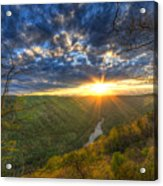 A Spring Sunset On Beauty Mountain In West Virginia. Acrylic Print