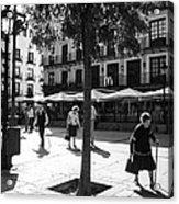 A Square In Toledo - Spain Acrylic Print