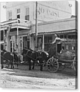 A Stagecoach In Tombstone Acrylic Print