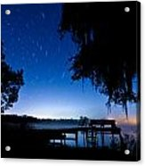 A Starry Night Acrylic Print by Walter Arnold