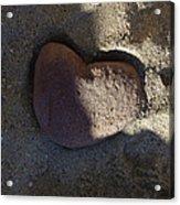 A Stone Heart Acrylic Print
