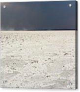 A Storm Approaching The Salt Pan Acrylic Print