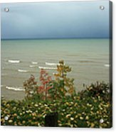 A Storm Is Brewing Acrylic Print by Kathy DesJardins
