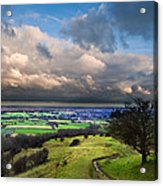 A Storm Over English Countryside With Dramatic Cloud Formations  Acrylic Print