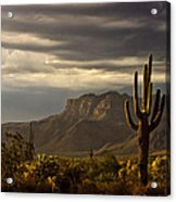 A Stormy Evening In The Superstitions  Acrylic Print