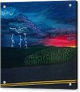 A Stormy Sunset Acrylic Print