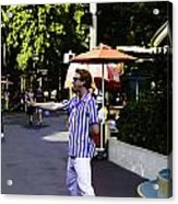 A Street Entertainer In The Hollywood Section Of The Universal Studios Acrylic Print