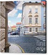 A Street In Prague Acrylic Print