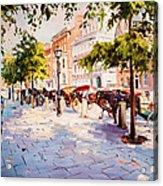 A Stroll On Stephens Green Acrylic Print