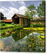 a Suffolk Barn Acrylic Print