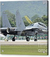 A Sukhoi Su-30mkm Of The Royal Acrylic Print