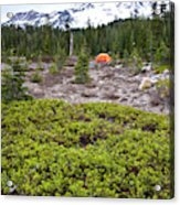 A Summer Day Camping At The Foot Of Mt Acrylic Print