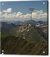 A Summit View Panorama With Peak Labels Acrylic Print